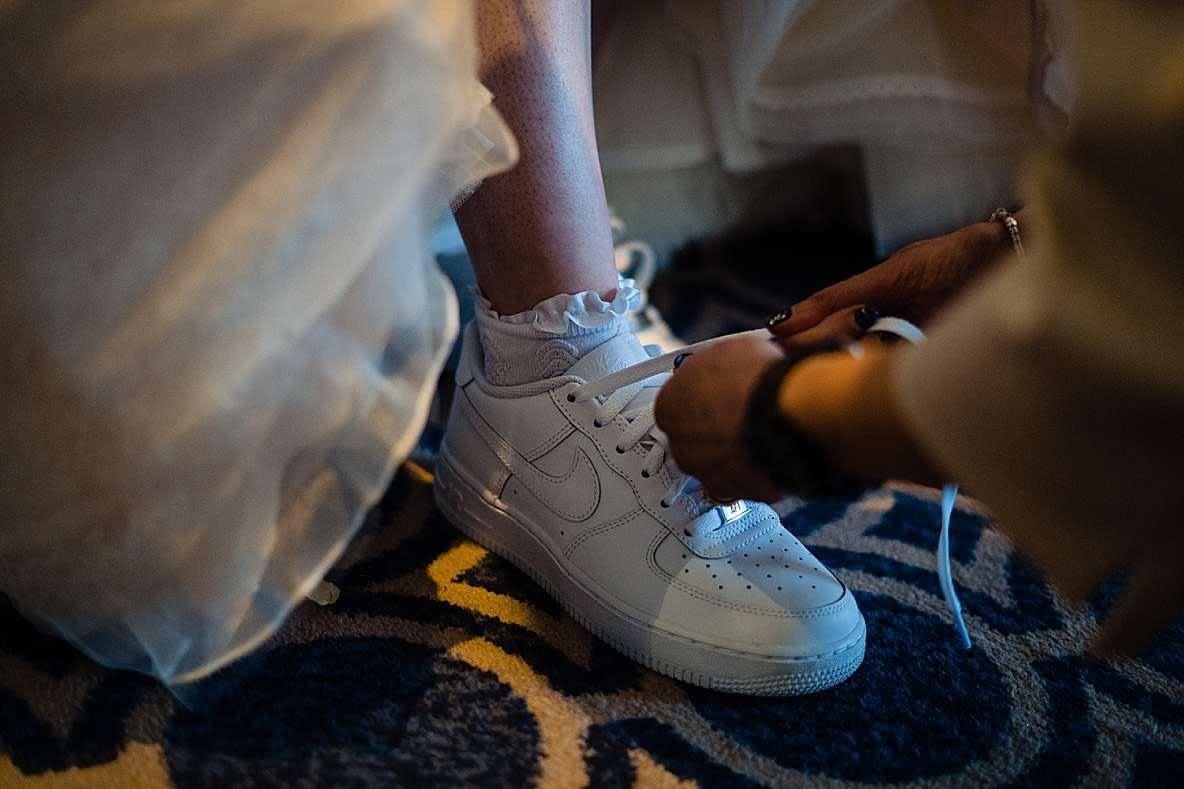 nike wedding shoes gloucestershire wedding photographer