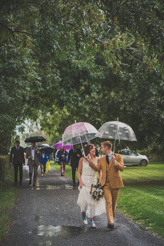 rainbow wellies wedding shoes gloucestershire wedding photographer