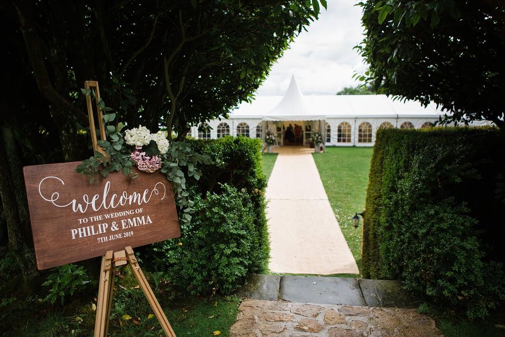 drakestone house wedding marquee
