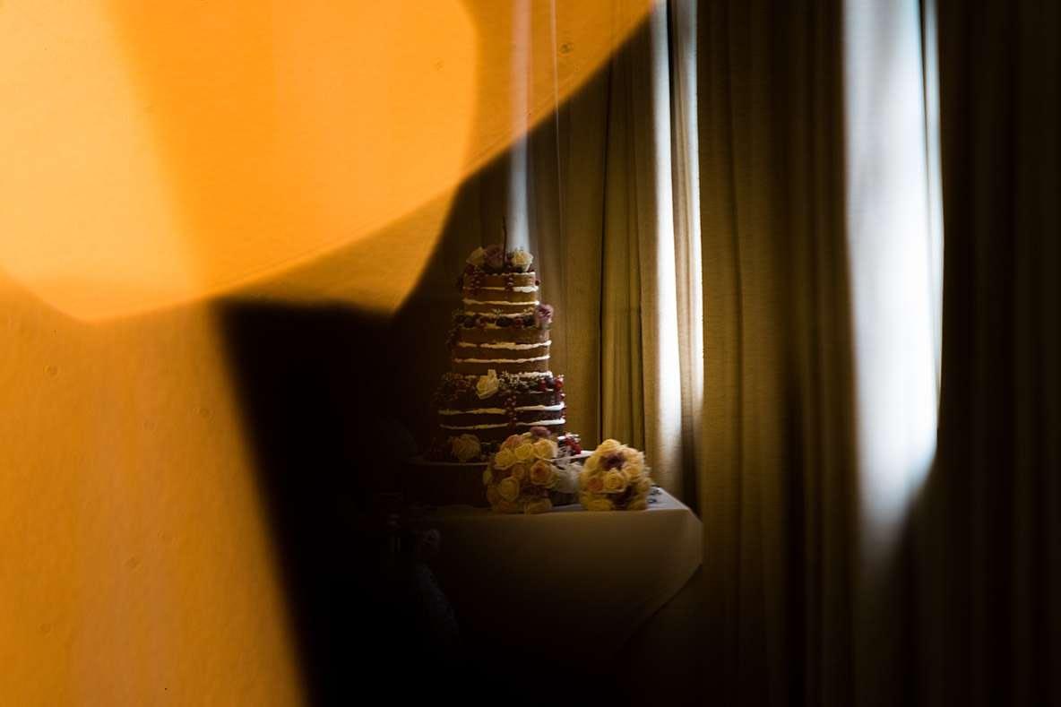naked wedding cake Gloucestershire wedding photography