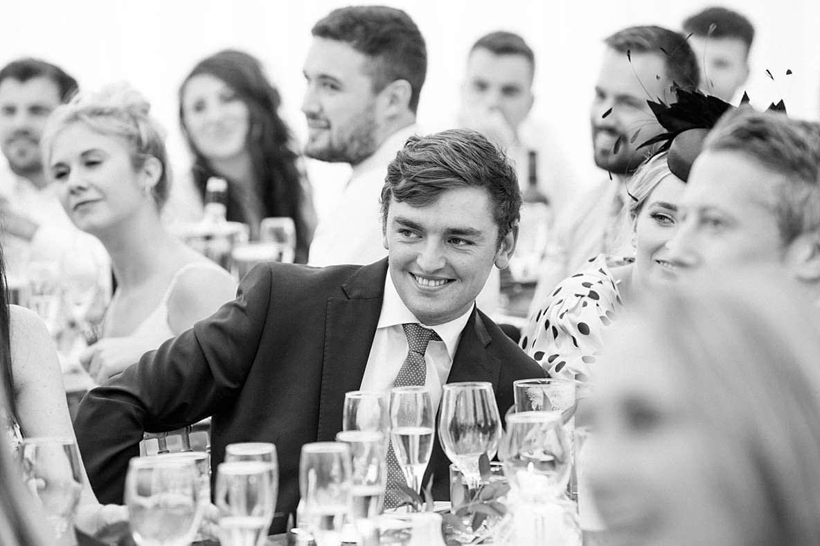 wedding guests smiling gloucester photography wedding