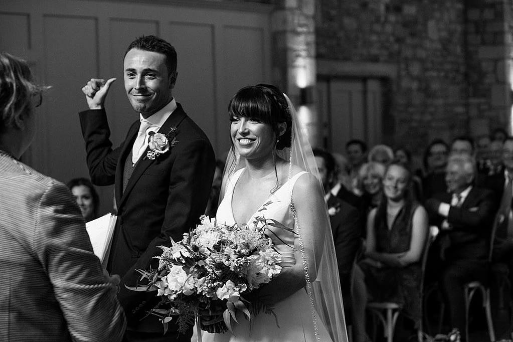 frogmill couple ceremony cheltenham wedding photographer