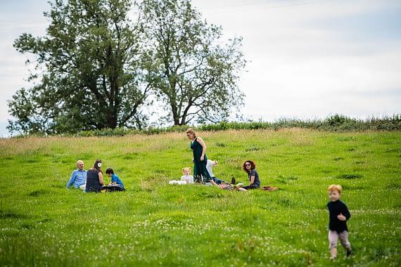 socially distanced picnic micro wedding photographer