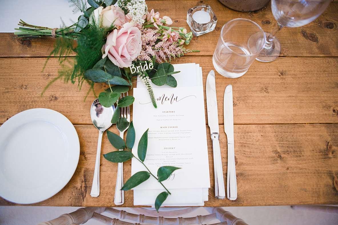 menu hey pesto Gloucestershire wedding photographer