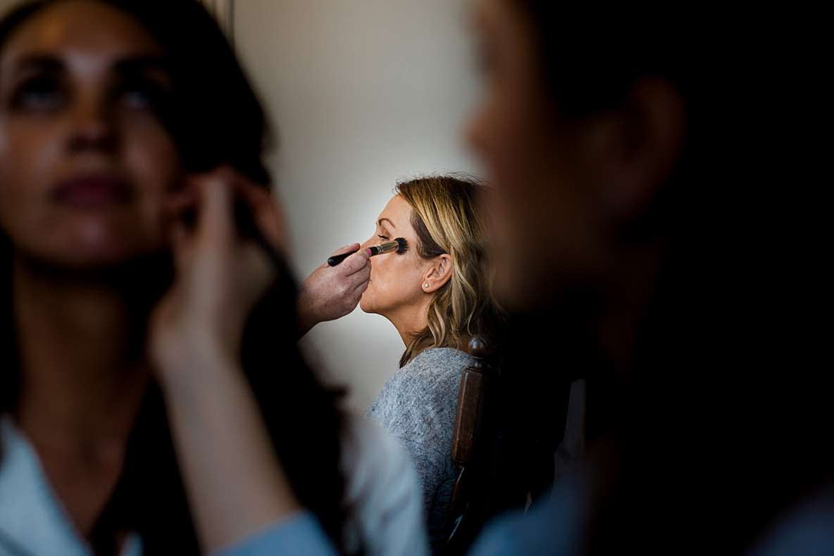 bridal prep with mom gloucester wedding photography