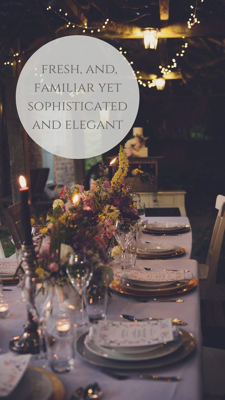 intimate wedding tables gloucestershire photographer