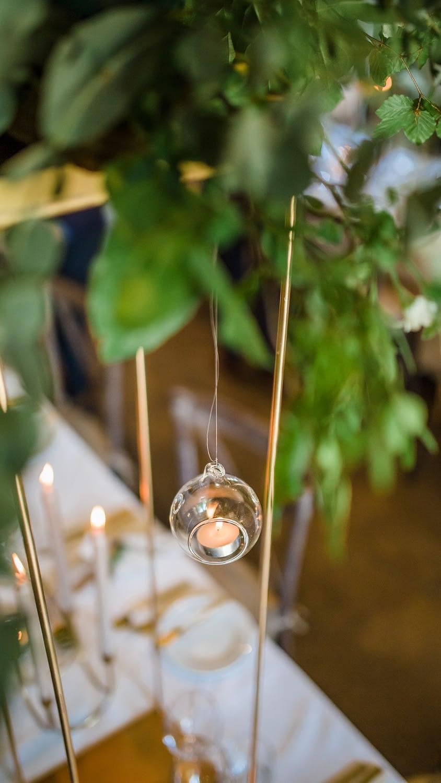 tealight intimate wedding tables gloucestershire photographer