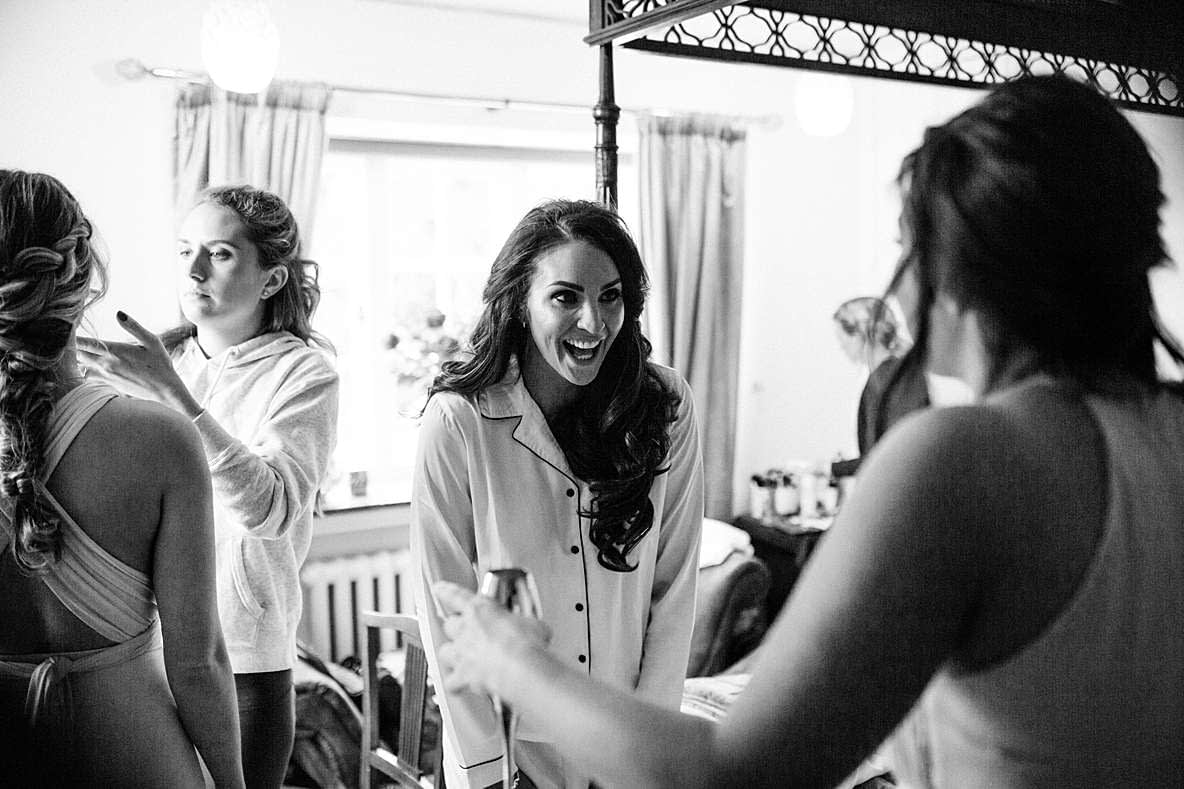 laughing bride gloucestershire photographer