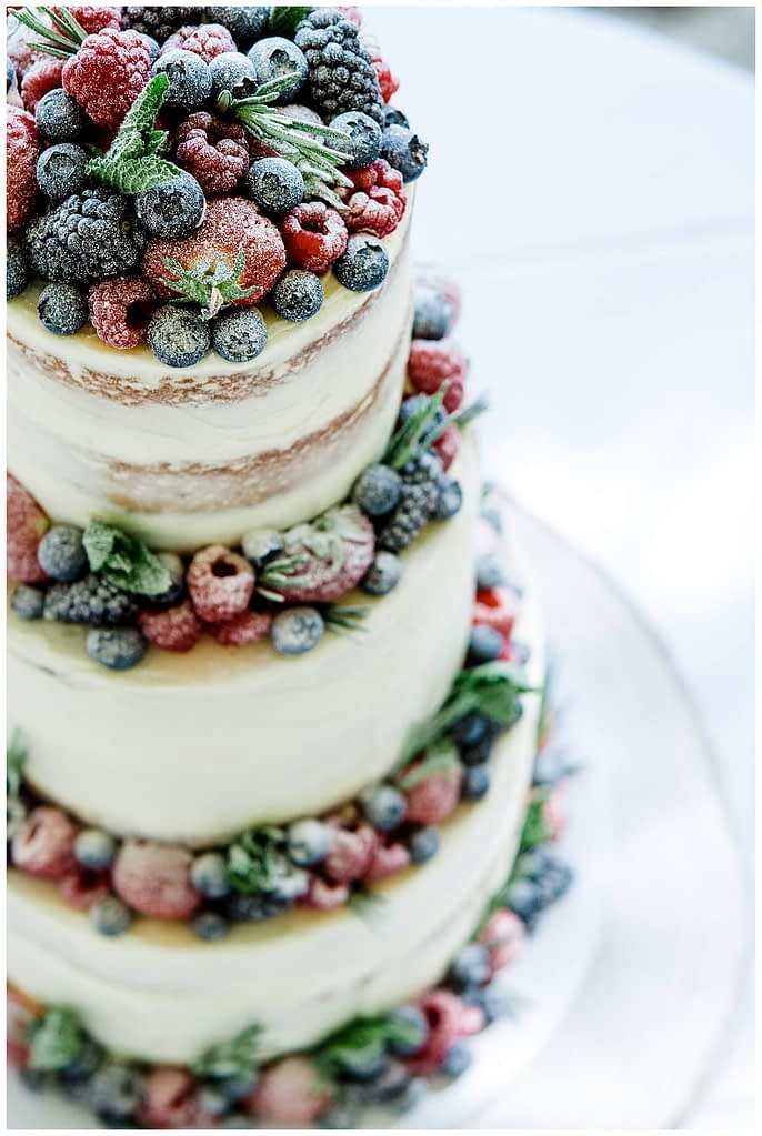 semi naked wedding cake vanilla pod bakery Barnsley house