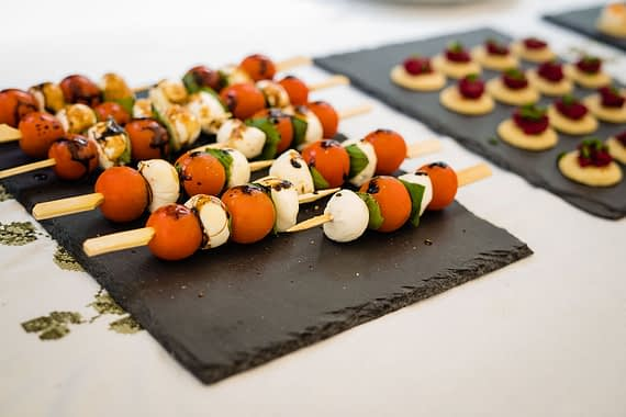 canapes on bbq covid micro wedding photographer