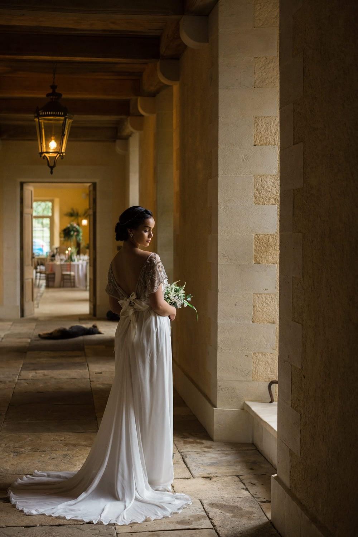 bride in olive room Euridge Manor wedding may