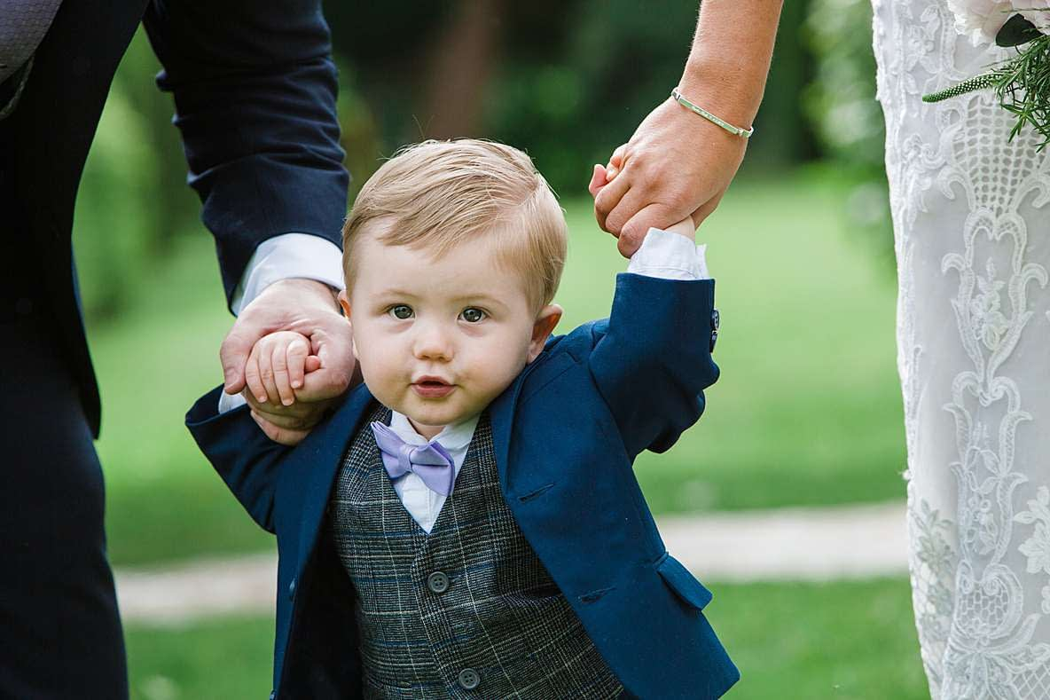 little boy smiling gloucester wedding photography