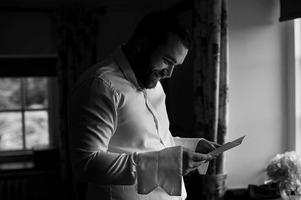 reading card gloucester wedding photography
