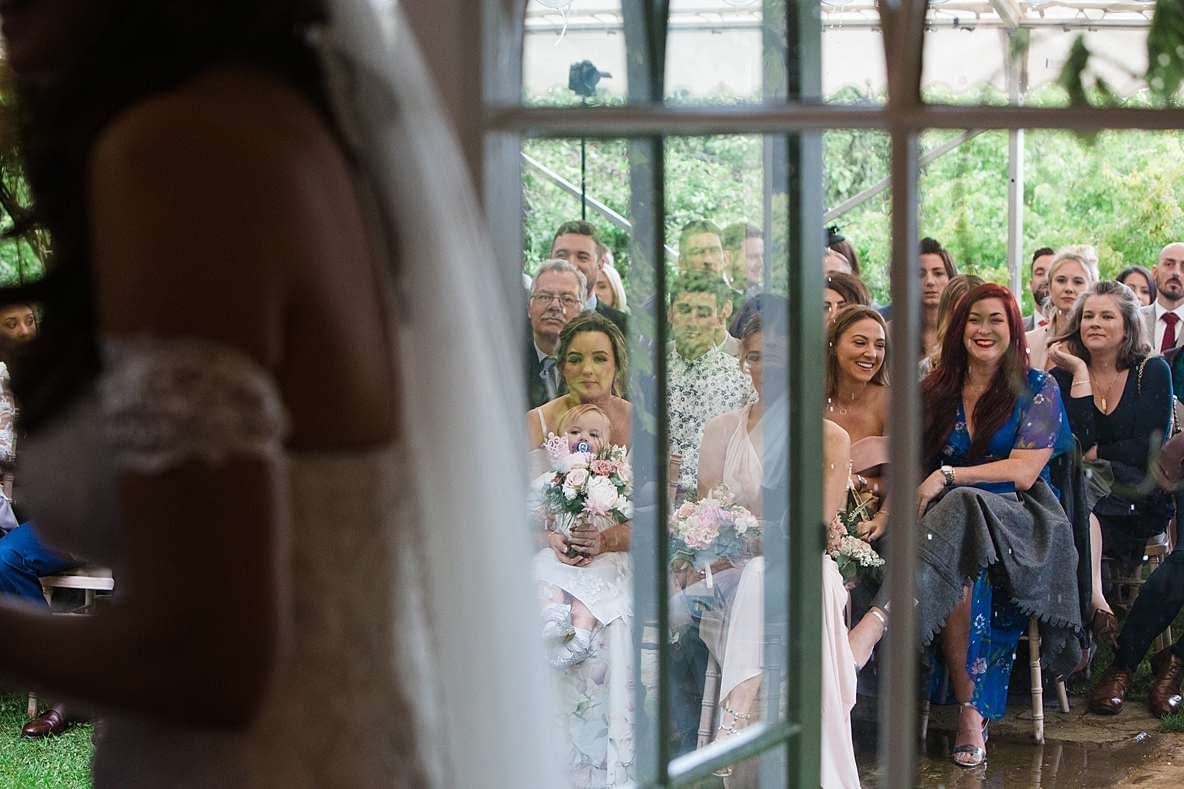 wedding guests ceremony gloucester photography