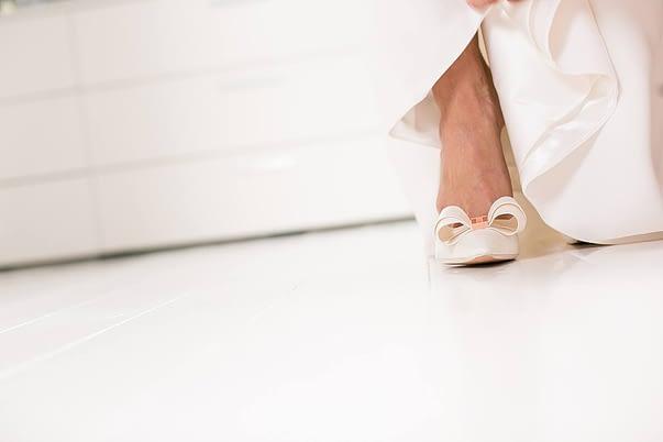 ted baker bow wedding shoes gloucestershire wedding photographer