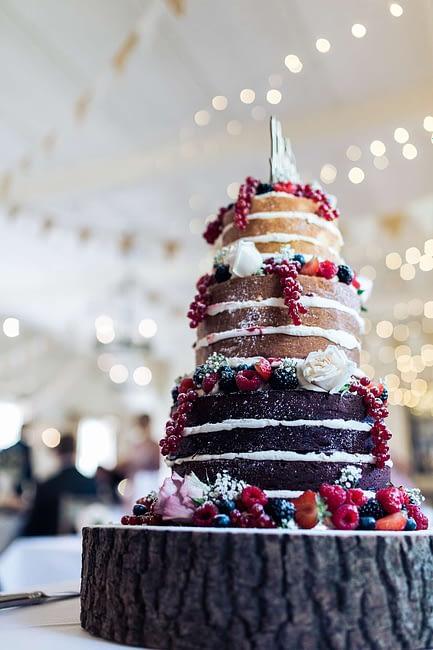naked wedding cake gloucestershire photographer