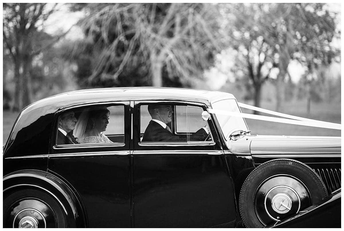 bride in rolls Royce bowood hotel wedding photographers