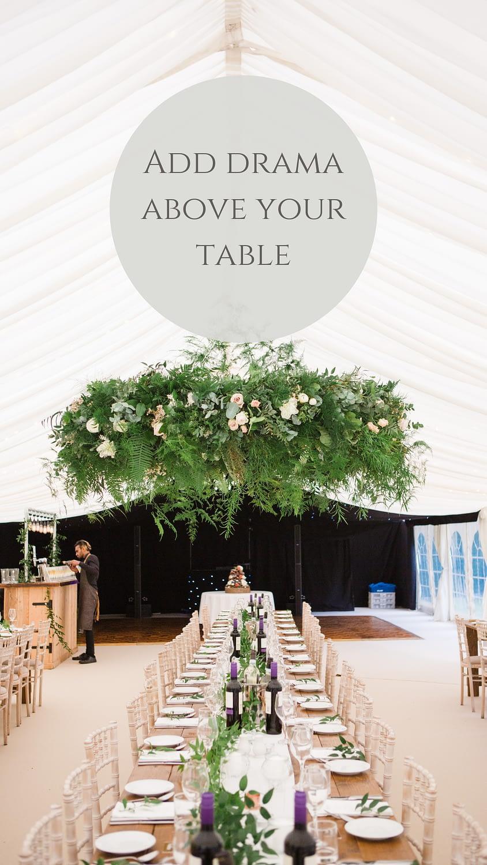 round greenery intimate wedding tables gloucestershire photographer