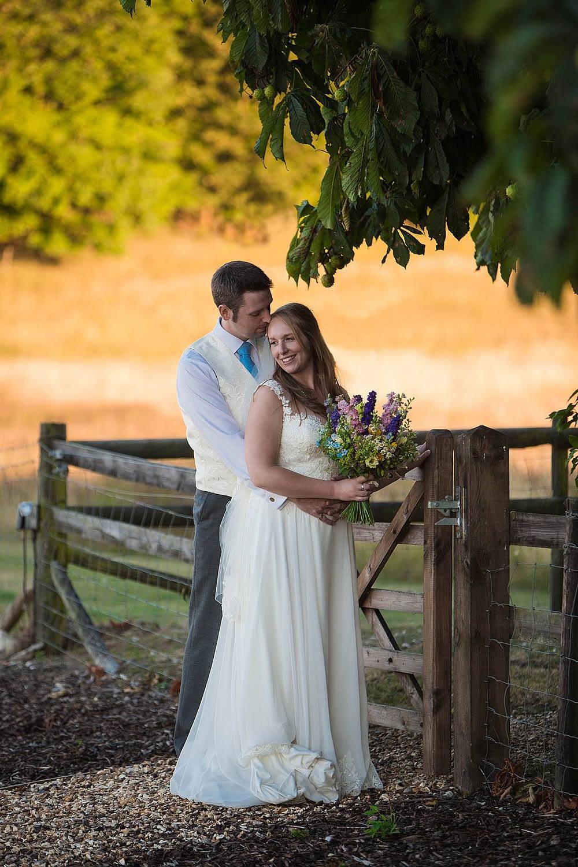 wellington barn wedding photographer outside couple