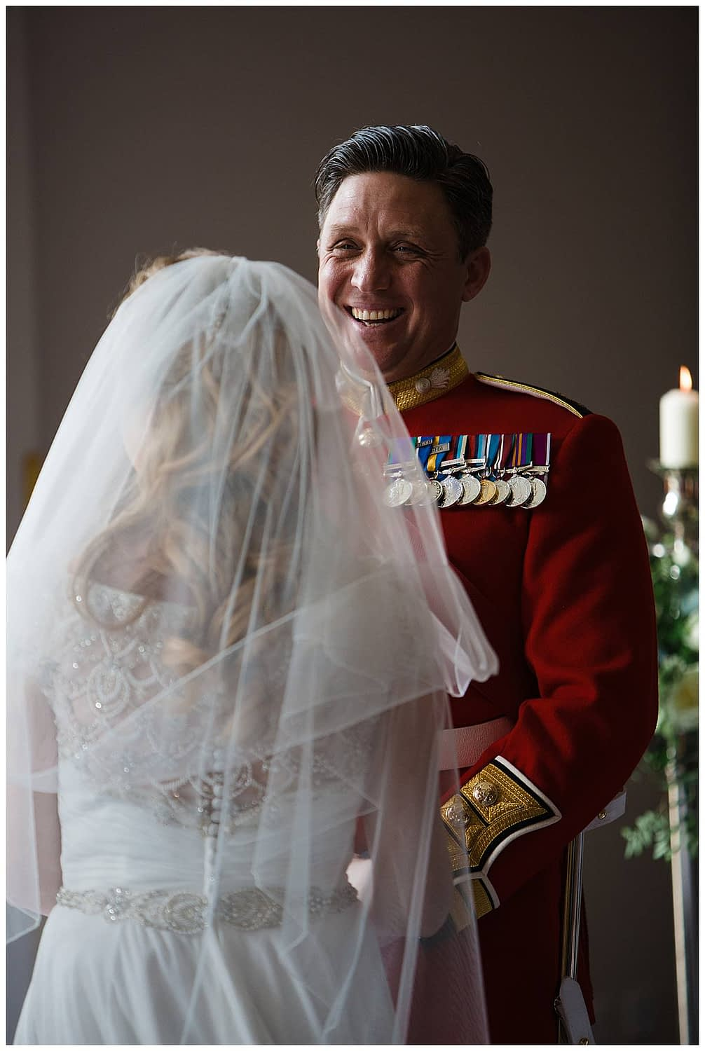 groom laughing at bride wiltshire photographer bowood