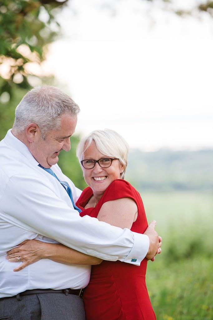 couple hugging at Berwick Lodge bristol wedding photographer