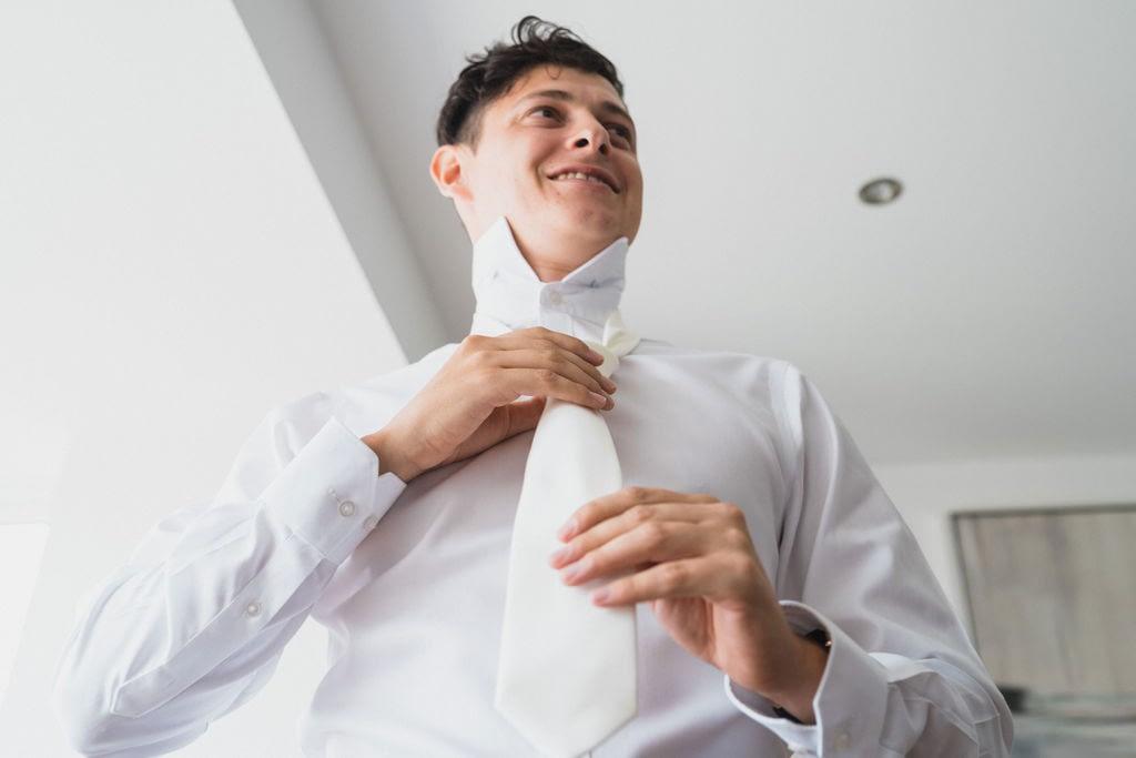 groom getting dressed drakestone house