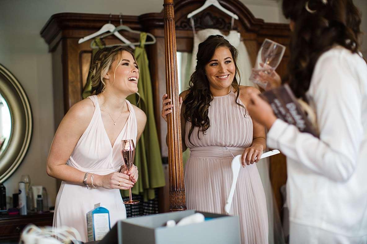 smiling bridesmaids photographer