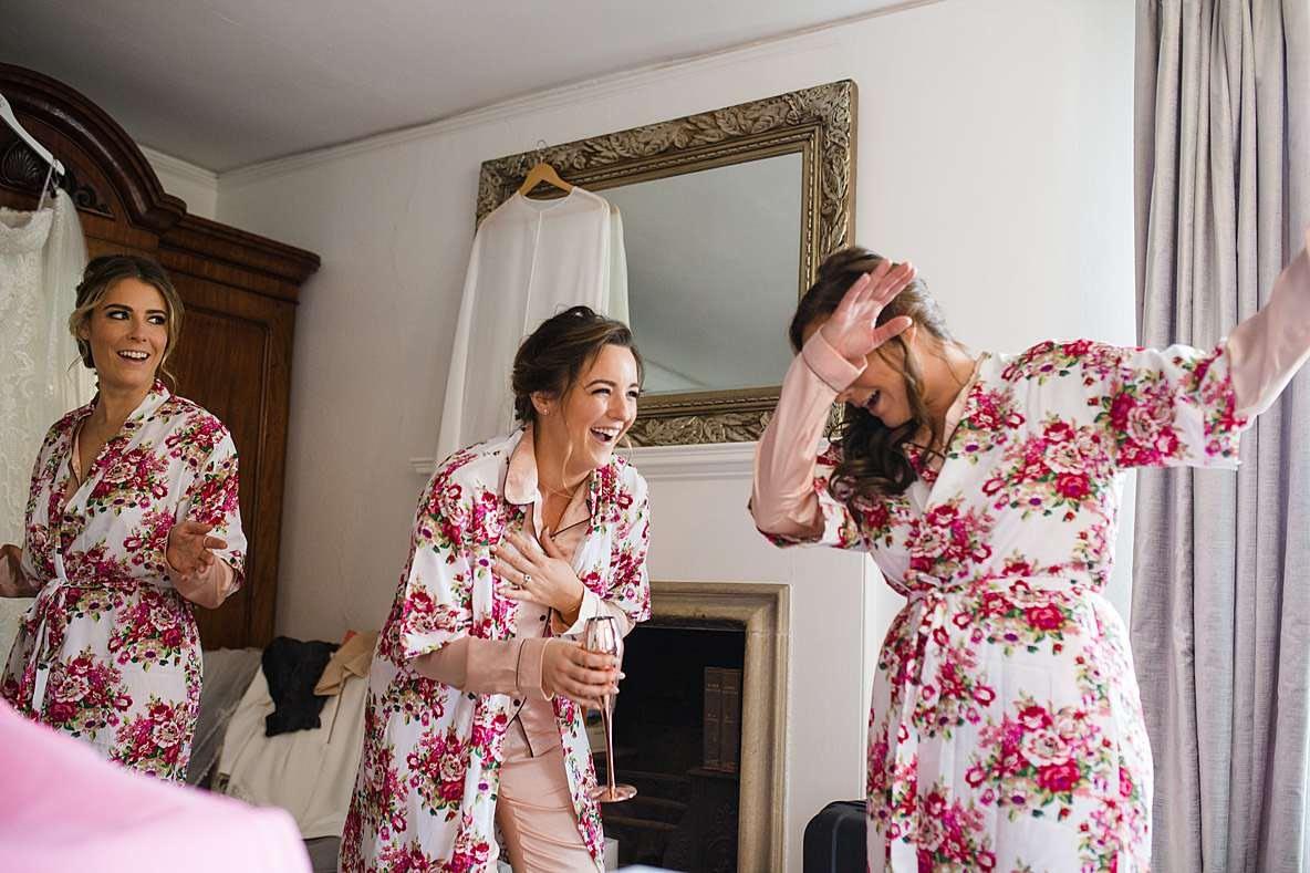 dancing bridesmaids prep gloucester photography wedding