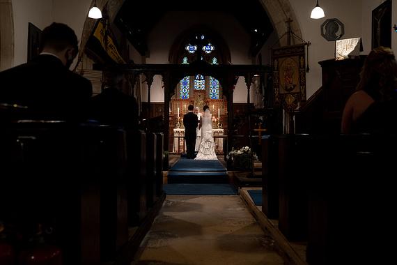 covid church ceremony micro wedding photographer gloucestershire