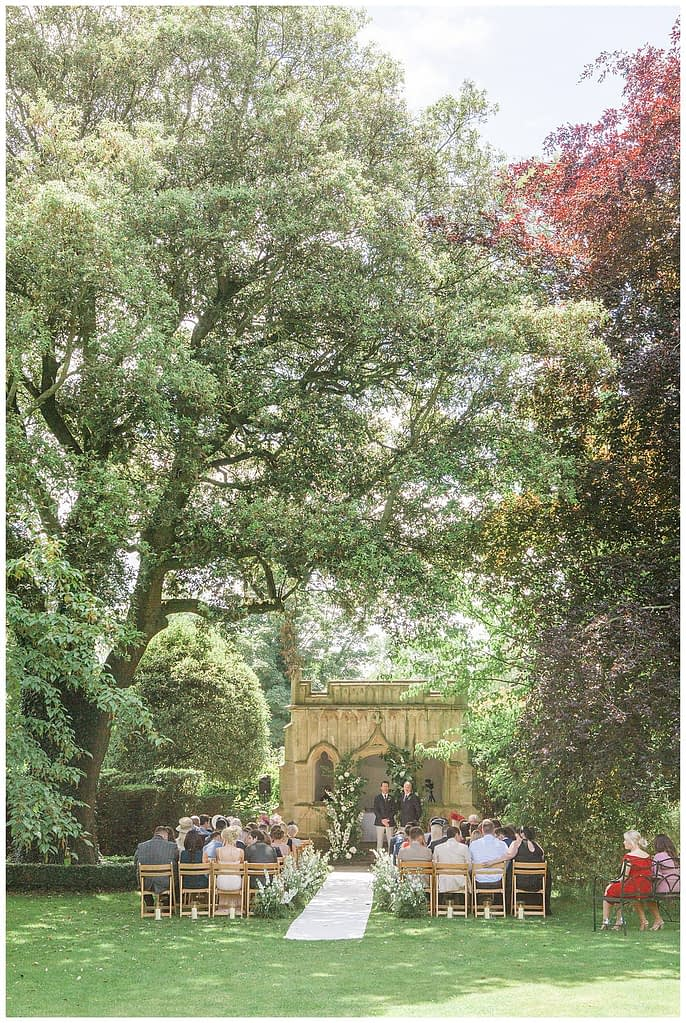 Barnsley House outdoor ceremony photography