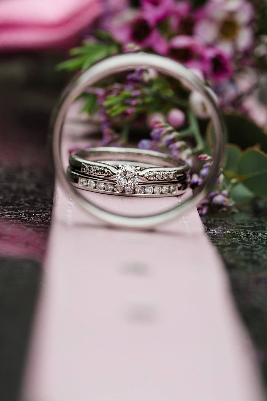 dog collar with rings wedding