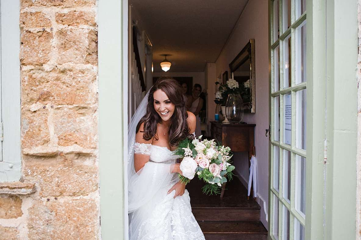 photography gloucester bride laughing