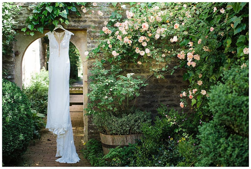 Courtyard Barnsley House Berta Wedding Dress