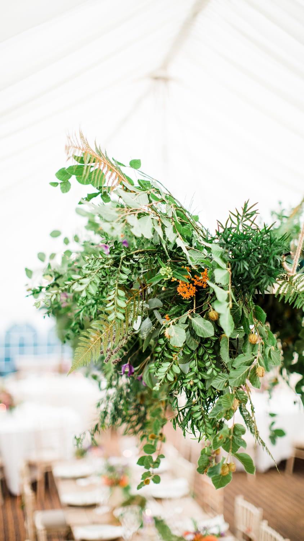 green foliage intimate wedding tables gloucestershire photographer