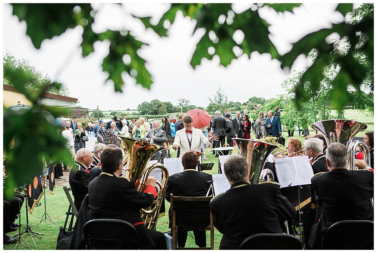 brass band gloucestershire wedding photography