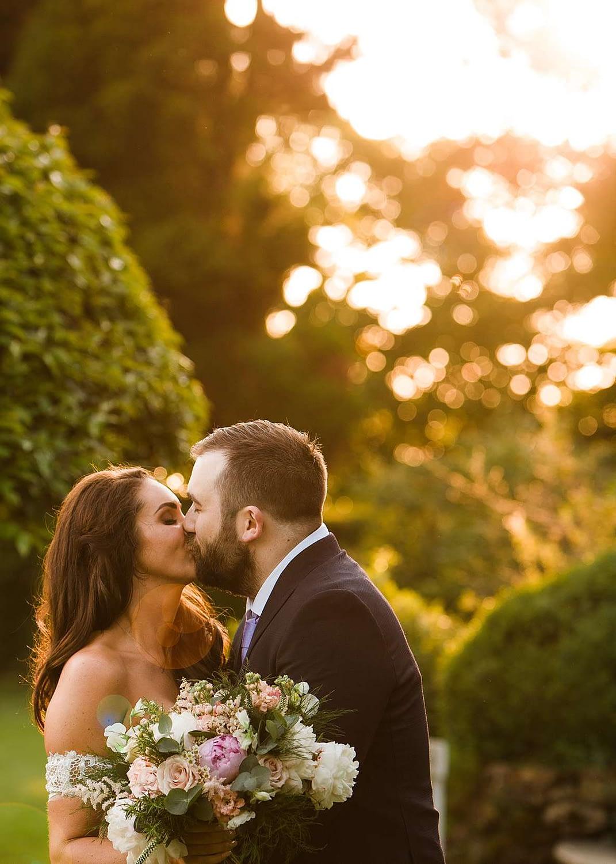 couple kissing sunset cheltenham photography
