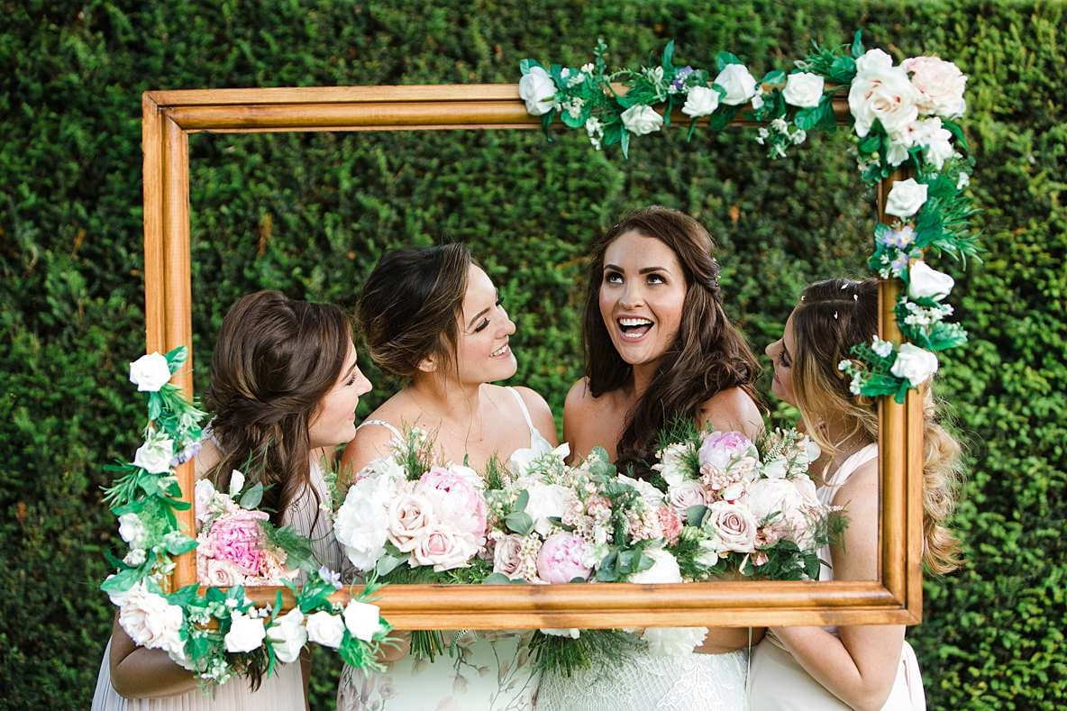 bride with bridal party wedding photographer