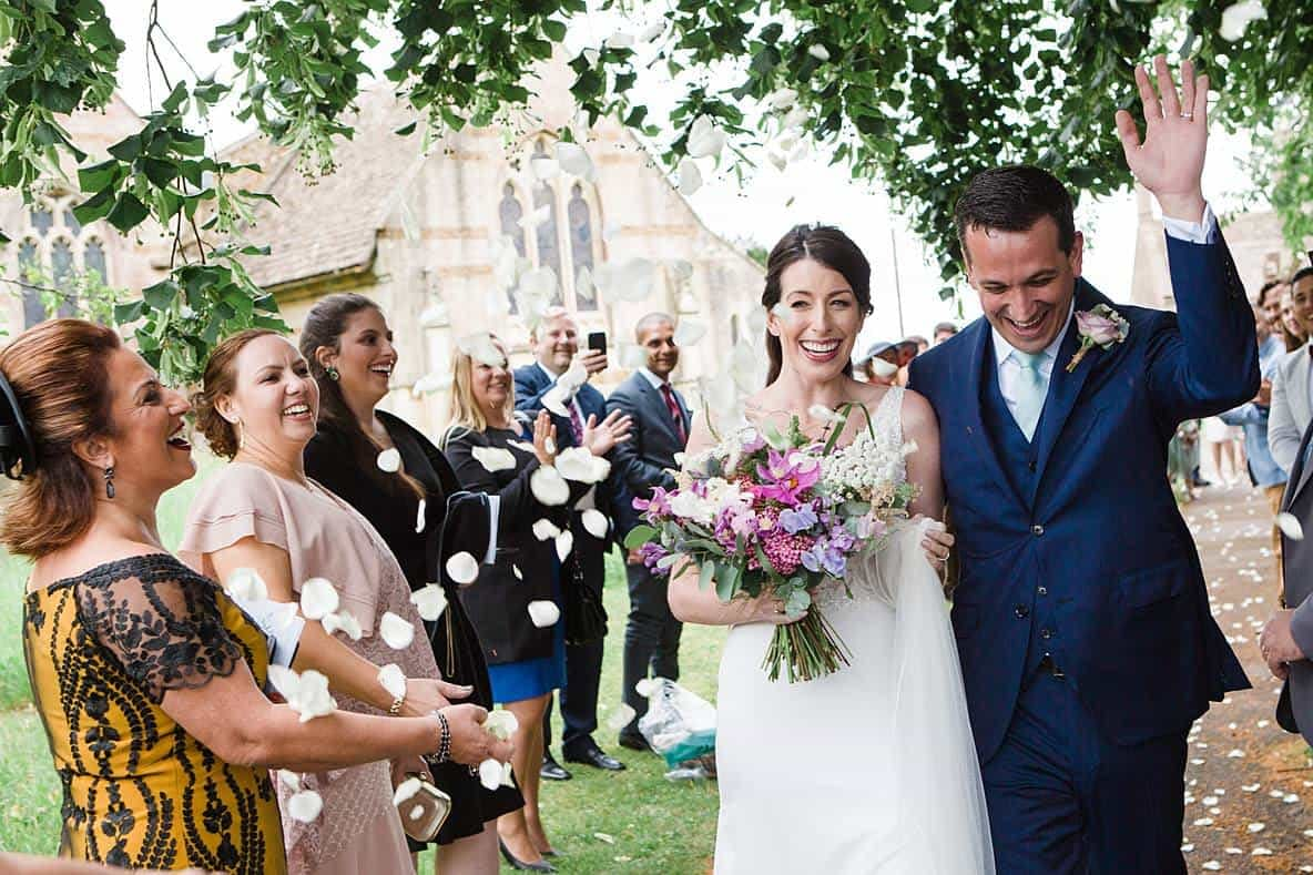 bright wedding bouquet gloucestershire wedding photographers