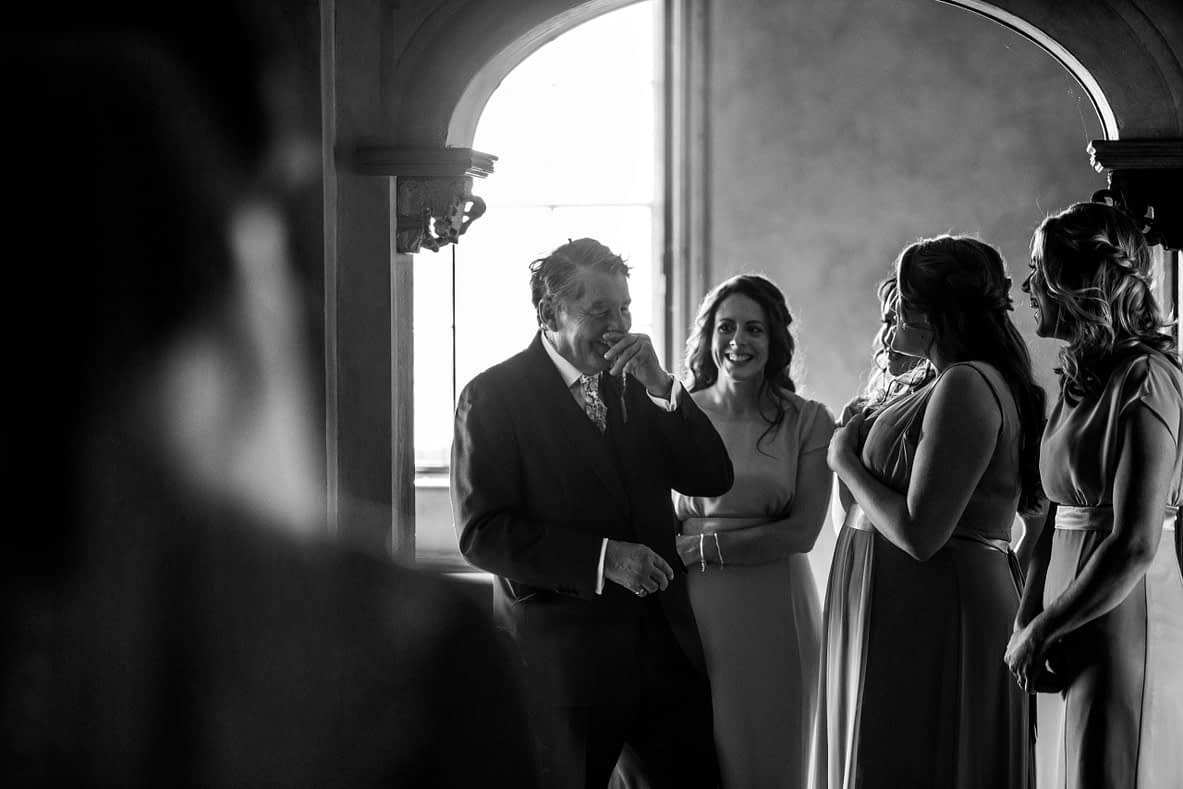 Pauntley court gloucestershire dad and bride photographer wedding