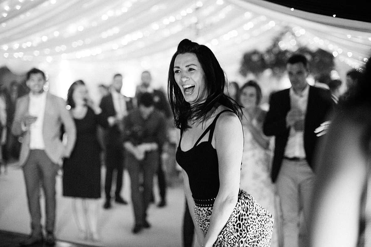happy guests dancing gloucester photography wedding