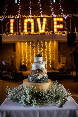 wedding cheese cake great tythe barn photographer