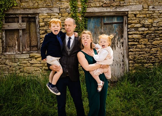 family picture micro wedding photographer Gloucestershire