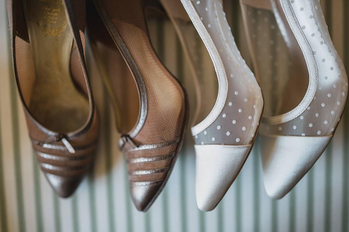 vintage wedding shoes 2 gloucestershire wedding photographer