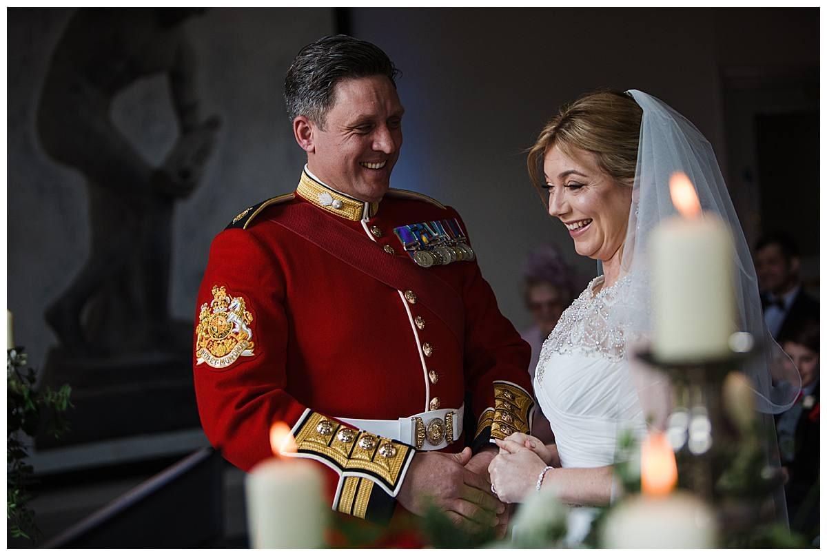 queens guard wedding bowood hotel