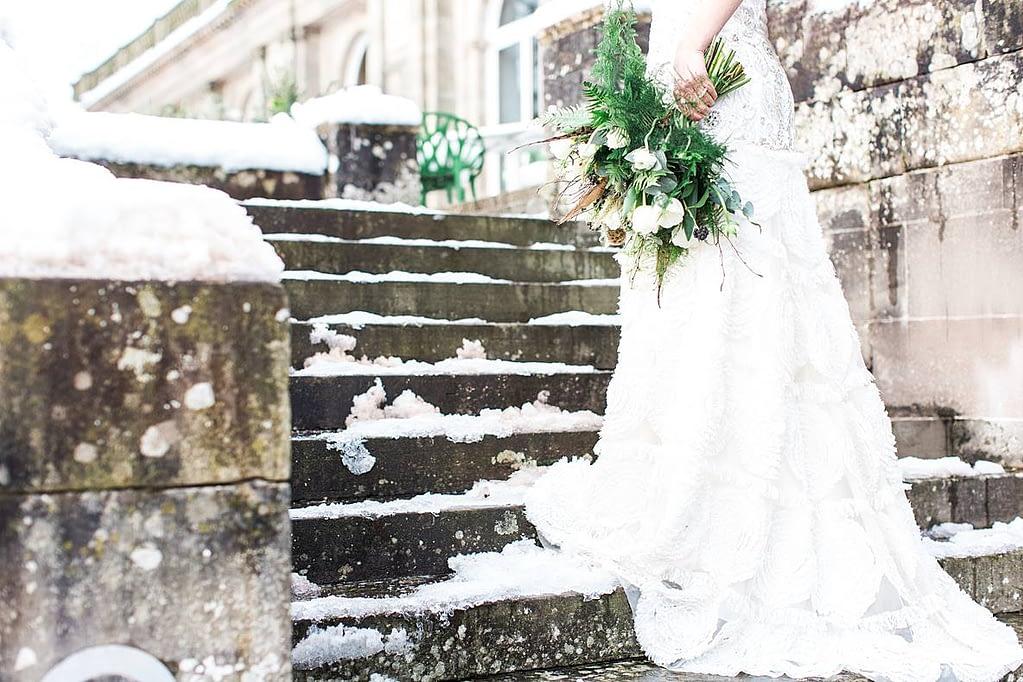 bride winter cowley manor photographer