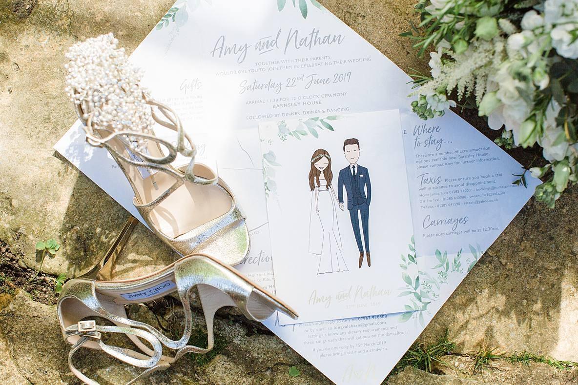 jimmy choo barnsley house wedding shoes gloucestershire wedding photographer