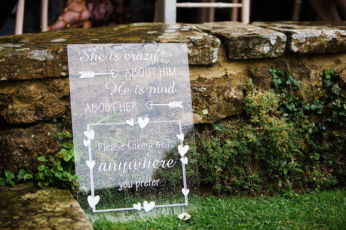 perspex wedding sign gloucester photography