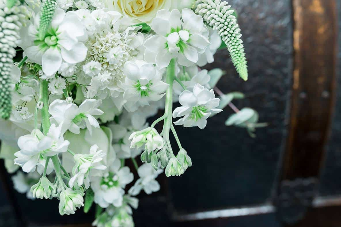white wedding bouquet Gloucestershire wedding photographers