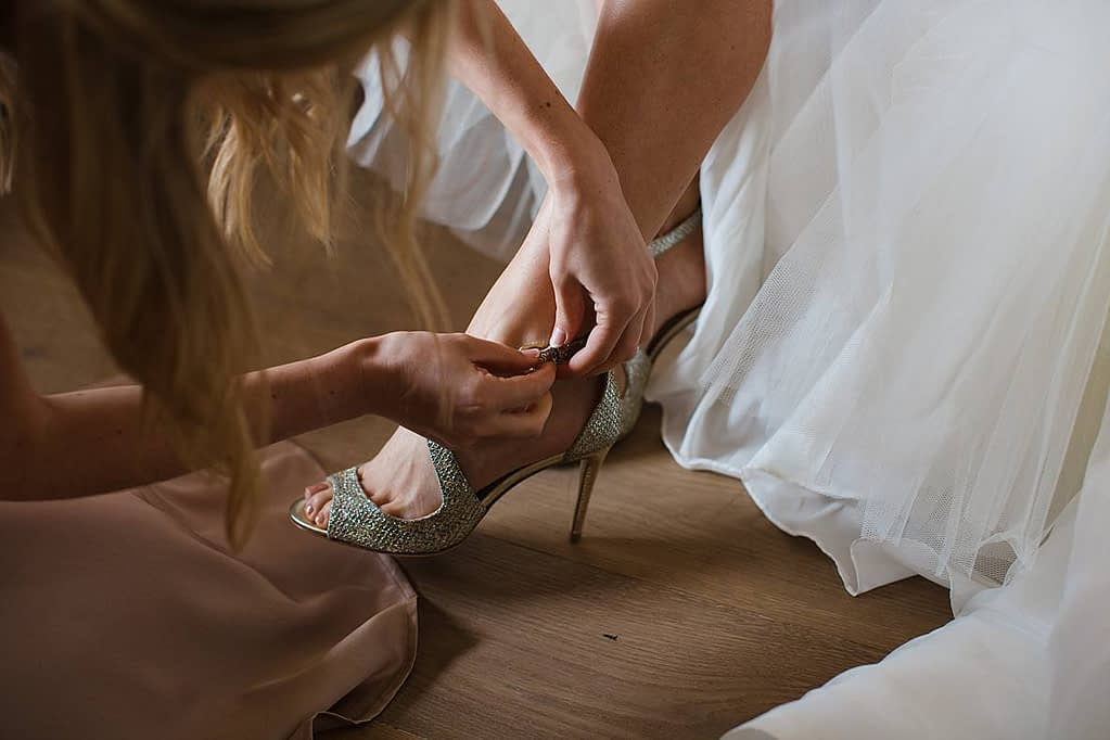 Jimmy Choo high heels cotswold wedding frogmill inn